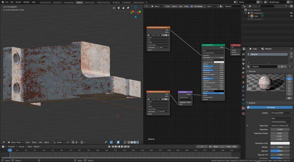 Cómo exportar texturas de Substance Painter a Blender EEVE 006