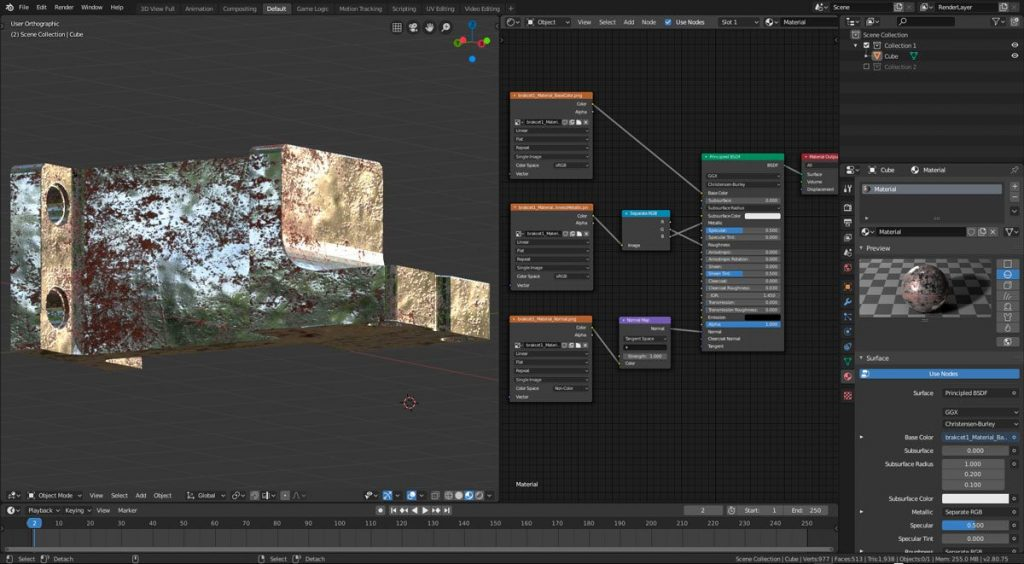 Cómo exportar texturas de Substance Painter a Blender EEVE 007