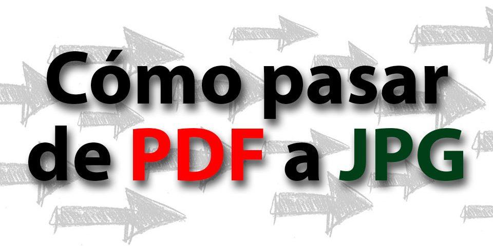 Cómo pasar de PDF a JPG