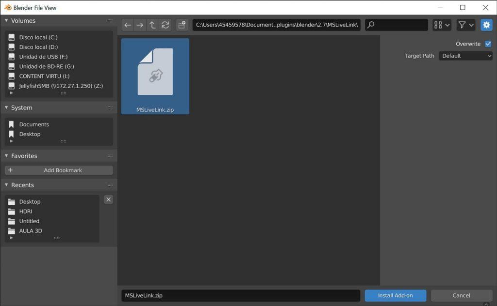 El script de Quixel para Blender