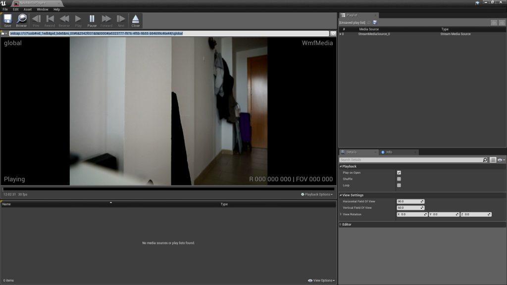 Flujo de video en tiempo real en Unreal Engine
