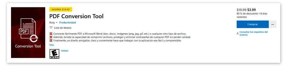 Microsoft PDF Conversion Tool