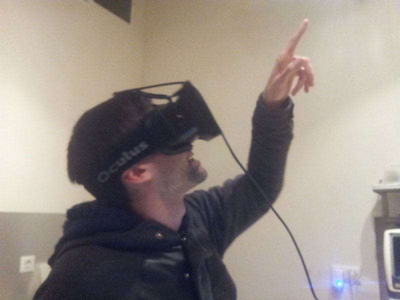 Viendo mariposas con Oculus Rift Development Kit